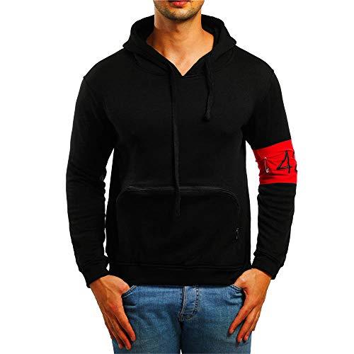 TWBB Herren Bekleidung Winter Warme Mode Kapuzen Kapuzenpullover Mantel Outwear Oberteile Mit Tasche