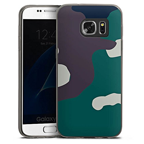 DeinDesign Slim Case Silikon Hülle Ultra Dünn Schutzhülle kompatibel mit Samsung Galaxy S7 Camouflage Bundeswehr Tarn Muster