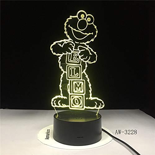 Sesamstraße Elmo BIG BIRD GROUCH Tischlampe Farbwechsel Lampen Child NightLight USB Flexible Lampe Luminaria Lamparas AW-3085 (Dekorationen Elmo Geburtstag 1.)