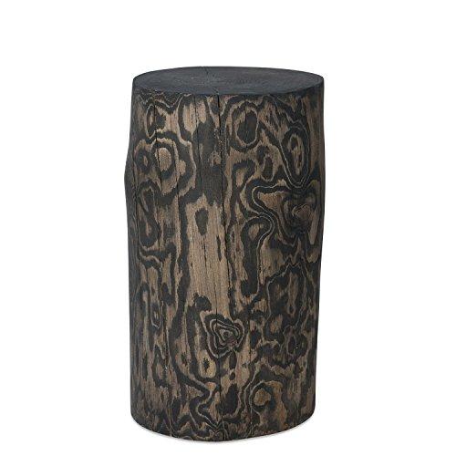 GREENHAUS Natürlich wohnen Deko Baumstamm Säule Fichte, in Handarbeit gefertigt, Raucheiche geölt, natürlicher Couchtisch, rustikaler Hocker (20-25 cm)