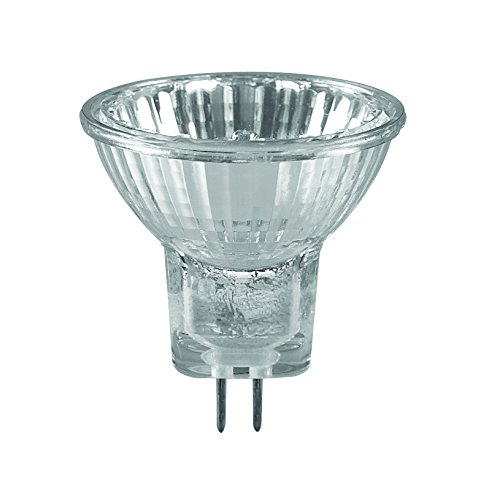 Sylvania Mehr-Pack: 10 Stück Halogen-Lampe 35mm Durchmesser, 20W, 12V, GU4-Sockel, 30°, 2800 Kelvin, 200lm (Mr11 Lampe 20w)