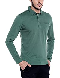 [Sponsored]Dream Of Glory Inc. Men's Branded Full Sleeve Cotton Polo Neck Buttoned Collar And Pocket In Plus Sizes T Shirts...