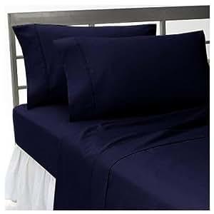 600 TC 1 PC Duvet Cover Solid Navy Blue Single Size 100% Cotton