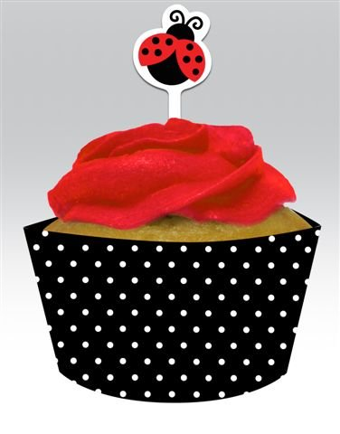 Stück Marienkäfer Cupcake Wraps & Picks