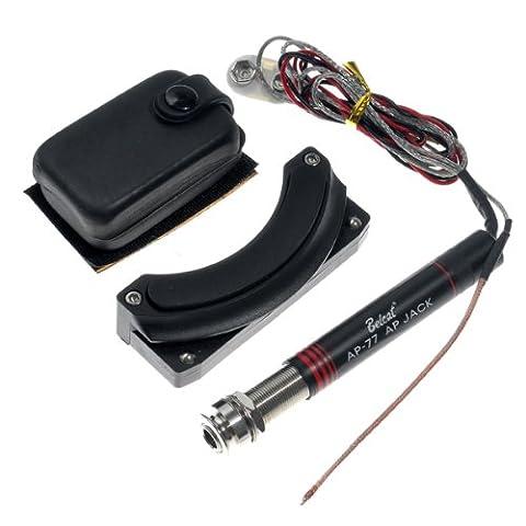 Belcat AP-77 Aktiv Power Jack mit Piezo Kabel und Schallloch Coil Pickup für Akustik Gitarre