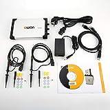 Gugutogo OWON VDS2062L LCD a doppio canale Tipo Super-economico Oscilloscopio a memoria digitale Scopemeter Scope Meter 60MHz 500MSa / s Argento UE