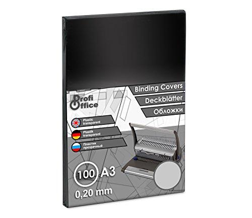 ProfiOffice® Deckblätter, DIN A3, transparent-glänzend, 0,20 mm, 100 Stück (59201)