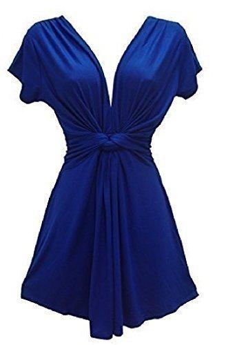 Holidaysuitcase Damen Sommerabend Lang Knoten Top, Plus Größe 12 bis 26 Königsblau