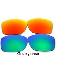 Galaxylense Verres De Rechange Pour Oakley Jupiter Squared vert   rouge  polarisé 2 Paires - Transparent f98b725bc9e5