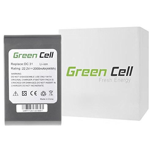 Preisvergleich Produktbild Green Cell® Handstaubsauger Akku für Dyson DC31 Animal (Li-Ion Zellen 2000 mAh 22.2V)