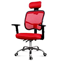 Cozy Homy High Back Computer Desk Chair Red Reclining Ergonomic Office Mesh Chair with Adjustable Armrest and Headrest Home Office Furniture