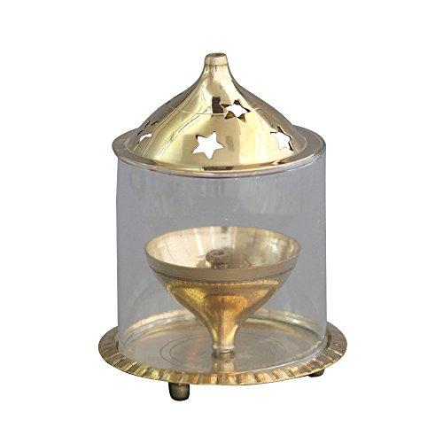 shubhkart udipi Diya, Puja Diya lámpara de aceite de latón puja indio, de cristal, luz soporte,