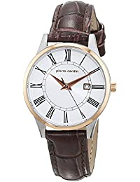 Pierre Cardin-Damen-Armbanduhr-PC901732F04, Silber/Rosegold/Braun