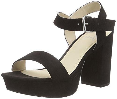 Another Pair of Shoes SelenaaK2, Damen Knöchelriemchen Sandalen, Schwarz (black01), 39 EU