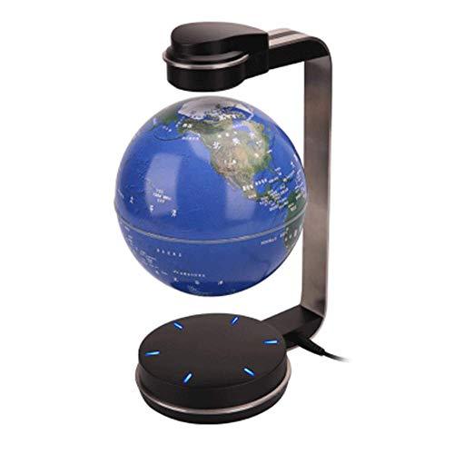 XHHWZB Magnetschwebebahnschwebebahn Floating Rotating Globe Gold & Blue Book Style Plattform Lernen Bildung Display Stand Home Decor (Farbe : Blau)
