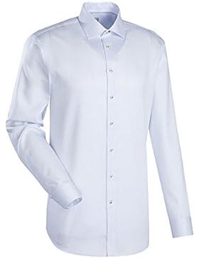 JACQUES BRITT Business Hemd Slim Fit 1/1-Arm Bügelleicht Karo City-Hemd Kent-Kragen Manschette weitenverstellbar