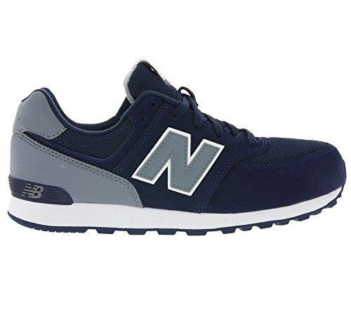 New Balance Unisex-Kinder Kl574cwg M Sneakers Mehrfarbig (Navy/grey)