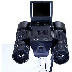 GZXCPC Binoculares HD 1280 * 720P 96m / 1000m Telescopios de Largo Alcance Prismáticos Pantalla TFT de 2.0 '' y Zoom Digital 4x