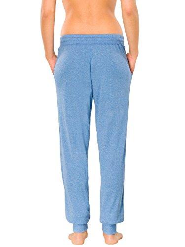 Schiesser Damen Pyjamahose lang 144978 blau-mel.