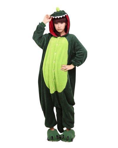 blau Eeyore Esel Unisex Kigurumi Einteiler Tier Pyjama Cosplay Kostüm Schlafanzüge - Dinosaurier, (Eeyore Erwachsene Kostüm)