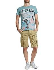 shorts bermudas lee cooper nolan 4107 garment dyed beige