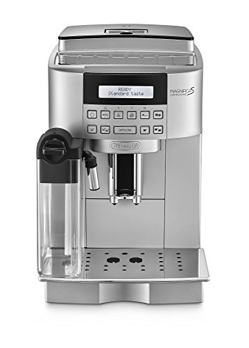 DeLonghi ECAM 22.360.S - Cafetera (Independiente, Plata, LCD, Granos de café, De café molido, Café con leche, Capuchino, Leche caliente, Agua caliente, 1,8L)