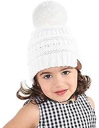 JDYW Bebé Sombrero Pom Bobble Hat Gorro de Lana de Winter Warm Knit Beanie  Hat para 6ac8637e054a