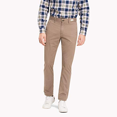 Chino-twill-khaki (Tommy Hilfiger Herren CORE DENTON STRAIGHT CHINO Hose, Beige (Batique Khaki 264), W36/L32)
