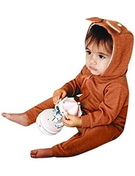 Babykleidung,Sannysis Neugeboren Jumpsuit Baby Junge Mädchen Hirsch Kapuzenjacke Overall Kleider Outfits 3-24Monat...