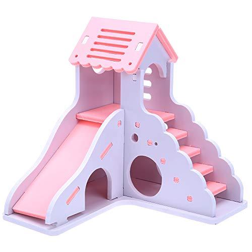 xMxDESiZ Mini-Kinderspielzeug aus Holz, zum Selberbauen von Hamstern und Kleintieren Rose