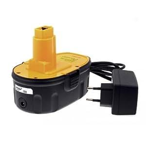 Batterie pour Dewalt type DE9503 Li-Ion chargeur inclu, 18V, Li-Ion [ Batterie outil électroportatif ]
