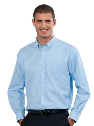 Russell Collection! Pflegeleichtes Langarm Oxford Hemd auch in Übergrößen Oxford Blue