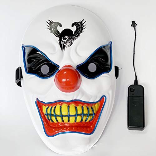 007 Kostüm Party - SJWR EL Draht Maske Cosplay LED blinkende Maske glühende Maske Kostüm anonym Maske für glühende Tanz Karneval Party Masken Halloween Dekoration,007