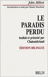 Le Paradis perdu traduit et présenté par Chateaubriand