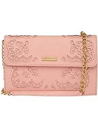 Elliza Donatein Womens Snap Closure Sling Bag (204360488_Pink)