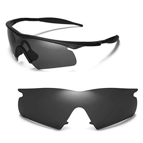 Walleva Ersatzgläser für Oakley M Frame Hybrid Sonnenbrille - Mehrfache Optionen (Schwarz)