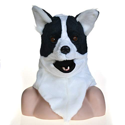 Für Kostüm Furry Verkauf - HNNH Masks Ganze Hauptkreatur Moving Mouth Cosplay Karneval Kostüm Hundebleiche Anime Masken Furry Animal Masks ( Color : Black )
