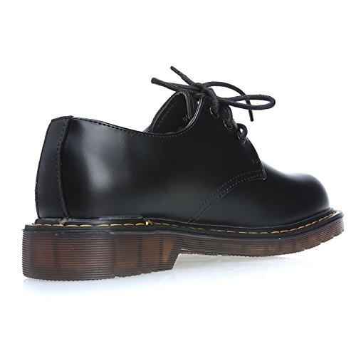 MForshop , Chaussures de ville à lacets pour femme Noir