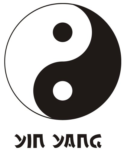 Wandtattoo Yin Yang 3 (einfarbig): 24 x 30 von mldigitaldesign