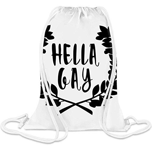 Hella Homosexuell - Hella Gay Custom Printed Drawstring Sack 5 l 100% Soft Polyester A Stylish Bag For Everyday Activities