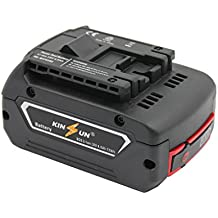 KINSUN Sustitución poder herramienta batería 18V Li-Ion 4.0Ah para Bosch Taladro inalambrico atornillador de impacto 2 607 336 169 2 607 336 170 BAT609 BAT609G BAT618G