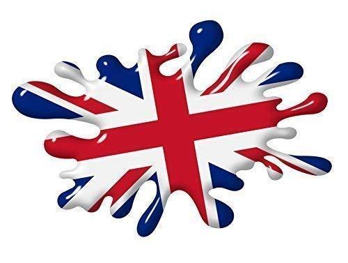 Effetto 3D, motivo: Union Jack con bandiera del Regno Unito in stile vintage, per auto o moto, università vinile adesivo 150 x 100 mm.