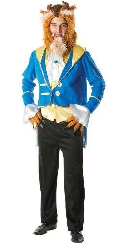 KULTFAKTOR GmbH Das Biest Disney Kostüm Märchen Lizenzware blau-Gold XL (Biest Disney Kostüm)