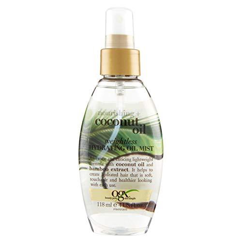 OGX, olio spray nutriente al Cocco, ad assorbimento rapido, confezione singola (1x 118ml)