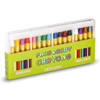 UNEEDE Face Painting Crayons Bright Colors Safety Body Paint Sticks Easy on Tatoo Paint Crayons for Toddlers,Kids,Children as Party Favors,Non Toxic,Holiday Essentials Gift for Kids