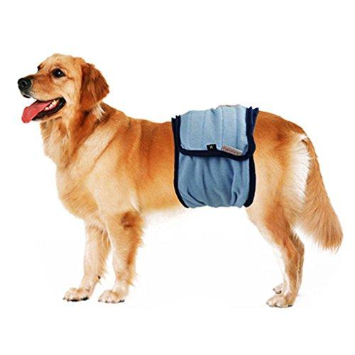 Bao Core Haustier Hund Sanitär Windel Hygieneunterhose Physiologische Unterwäche Schwarz/Blau M/L/XL
