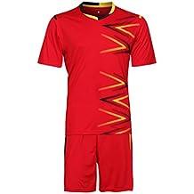 Yefree Equipo Hombre Niños Fútbol Set Jerseys Uniformes Niños Fútbol Kit Camisa Chándal