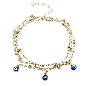 ccxx Neuer Stil Fußkettchen Bohemian Stil Sommer Türkei Blaue Augen Anhänger Strand Mode Kreativ Persönlichkeit Frauen Schmuck
