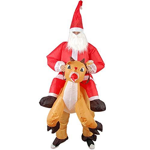 Cvbndfe Gute Qualität Erwachsene Aufblasbare Kostüm Festivel Weihnachtsauftritt Props Blow-up Weihnachtsmann Kleidung ()