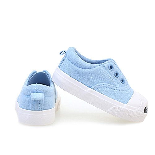 ALUK- Chaussures de bébé - Chaussures de toile pour enfants Apprenez les chaussures paresseuses ( Couleur : Gris , taille : 21 ) Bleu